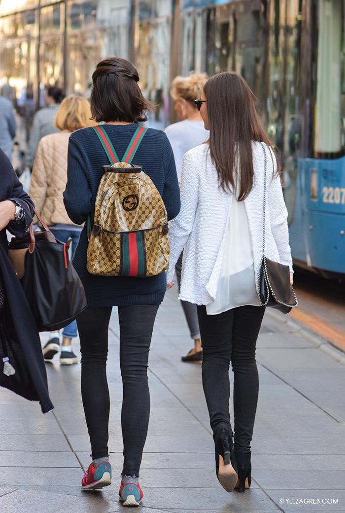 street style Zagreb ulična moda jesen zima 2016 kombinacija Gucci ruksak make up trikovi Jelena Peric Instagram