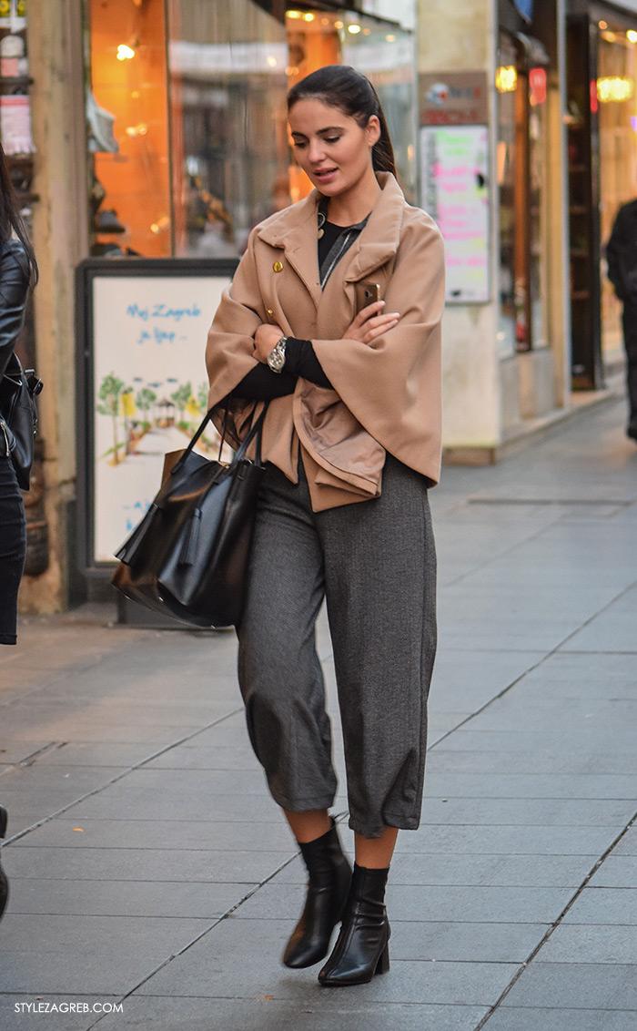 Style Zagreb ulična moda culottes zima 2016 sStyle Zagreb com. Street style Slavica i Ana Josipović, Nekoliko ideja inspiriranih stylingom s pelerinom, suknja-hlačama i gležnjačama