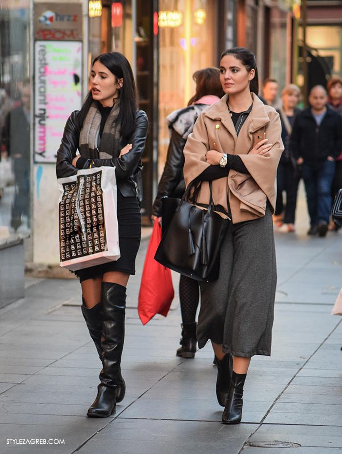 Style Zagreb com. Street style Slavica i Ana Josipović, Nekoliko ideja inspiriranih stylingom s pelerinom, suknja-hlačama i gležnjačama