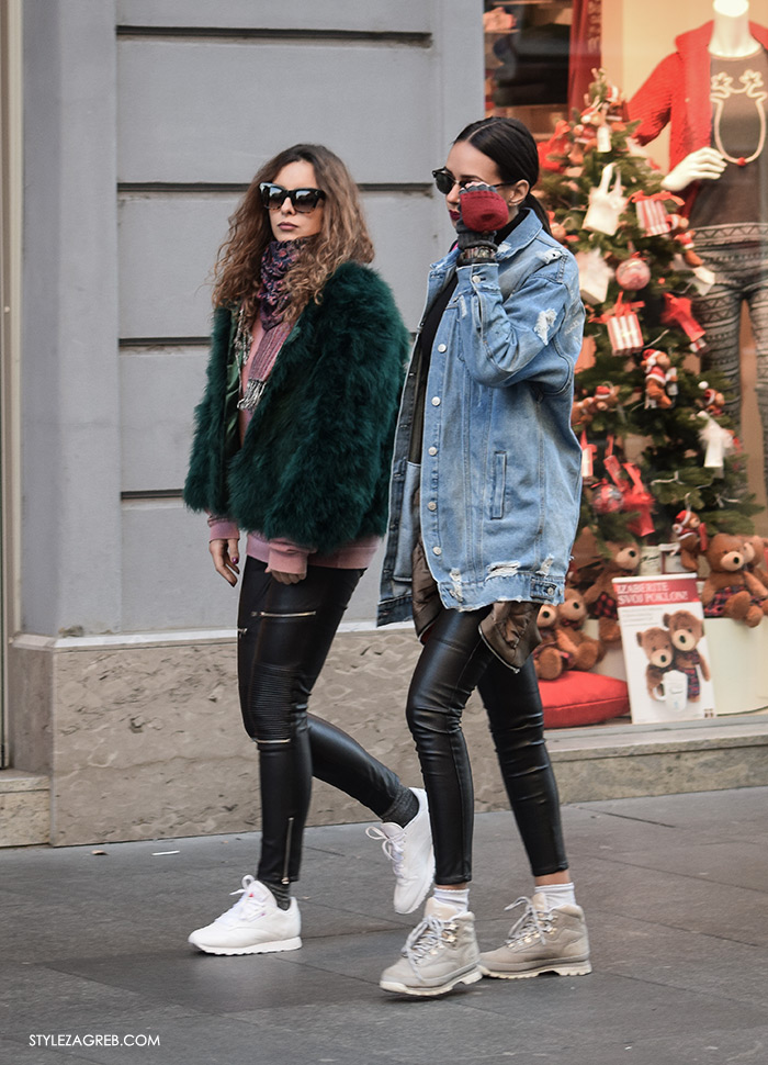 Bundice street style Zagreb ženska moda zima 2017, new faux fur coats and how fashion blogger wear them, stylish womens fashion, winter fashion 2017, Bundice: Kakvi modeli i krojevi se nose u Zagrebu, bundice od umjetnog krzna, roza crna zelena bundica vintage look kako kombinirati, Tija Malik Instagram
