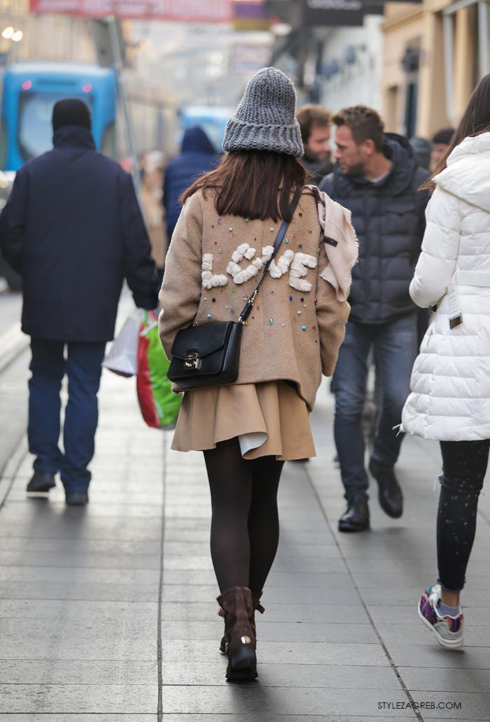 Shop best of Zagreb winter look, Sonja Lamut dizajn LOVE kaputić Instagram street style Zagrem moda hratska moda hrvatski dizajn