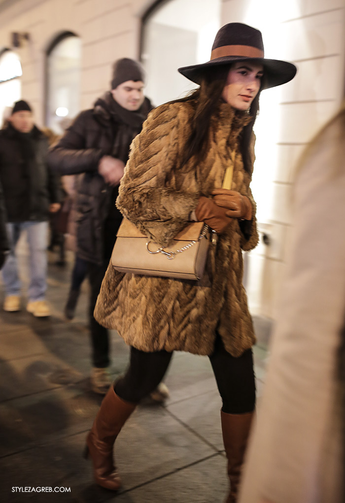 women's winter fashion what to wear street style how to wear fur coat and a hat