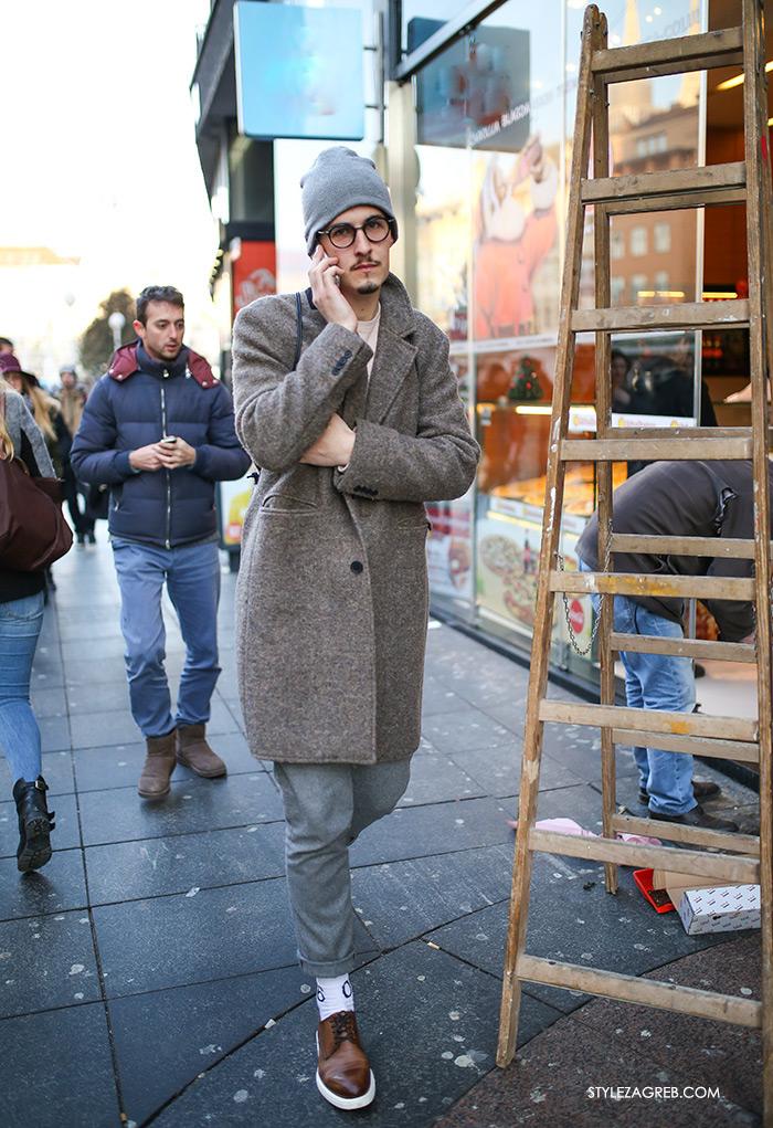 Ukradi kaput muškarcu, Style Zagreb, muška zimska moda kaputi, men's winter fashion overcoat street style duds latest photos, overcoat jacket street style men, sneakers with chinos, men street style casual 2016, white sneakers adidas, dude pics,how to wear overcoat mens fashion Gucci loafers, Acne Studios, J.CREW, COS, Hardy Amies, Burberry