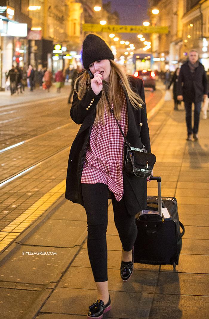 STYLE ZAGREB: Uzorak najavljen kao veliki proljetni trend već je na ulicama Zagreba, how to wear gingham vichy Zara dress, street style women's spring fashion