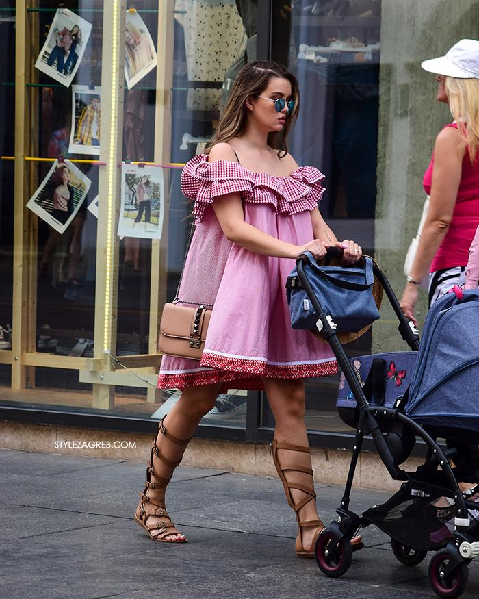 Tamara Vesovic Instagram @troublemaker_tb Zagreb špica moda street style novo haljina off shoulder