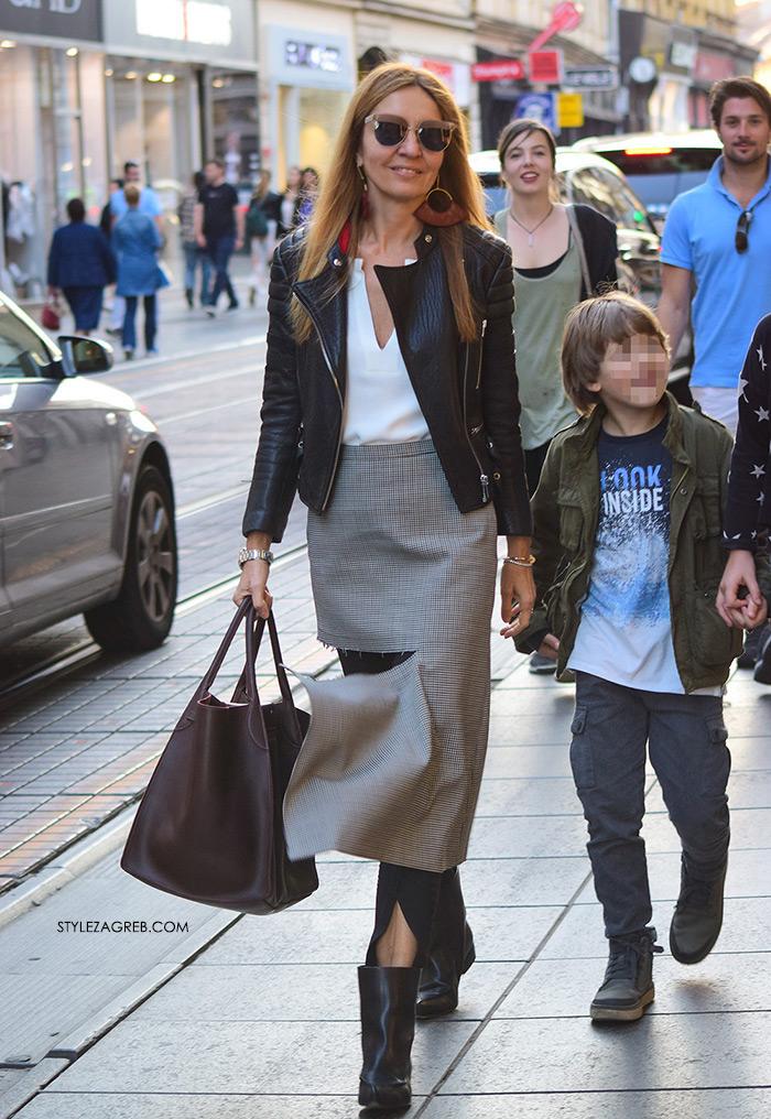 Maja Tedeschi street style Zagreb slike novo: pocijepana Balenciaga suknja