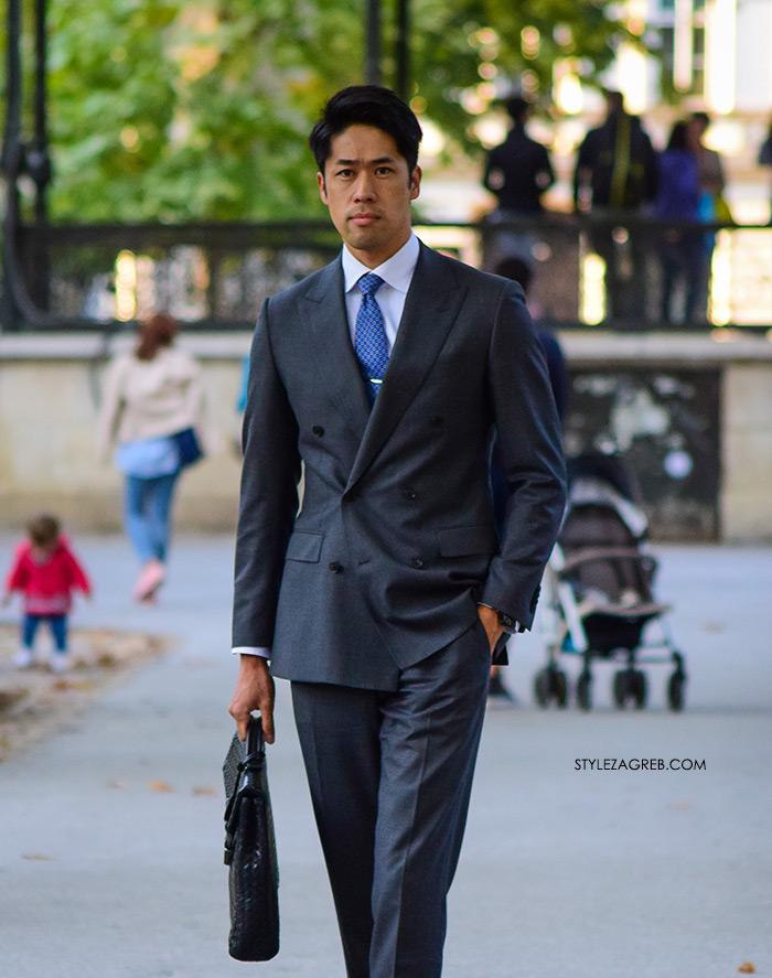 Japanac Ryohei Nakajima koji je u našem tv prilogu na htv 2 progovorio o svom stilu, sivo muško odijelo, muška moda, elegantan muškarac