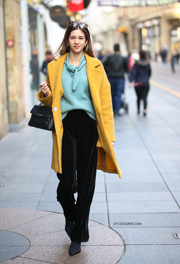 kako nositi žuti kaput Dora Drkula Style Zagreb sestre Josipović proljetna moda
