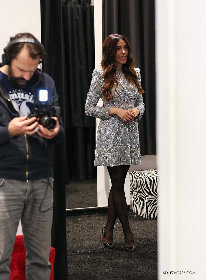 Ana Josipović haljina sa šljokicama Severina, haljine za mature Sherri Hill Zagreb Style Zagreb htv video prilog o modi