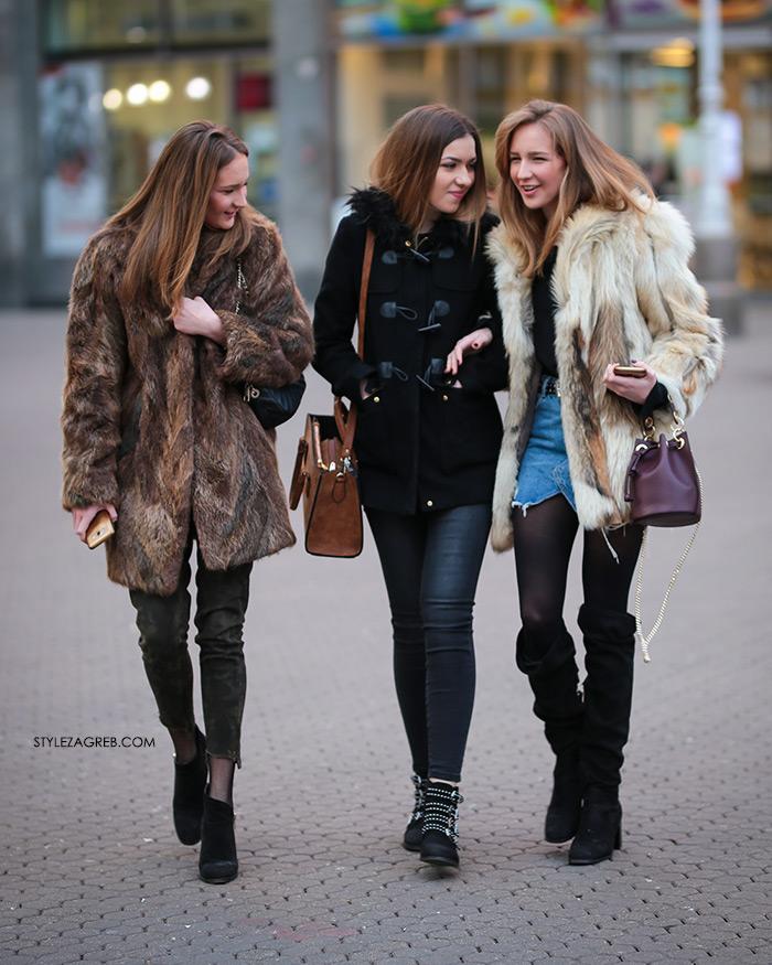 Bundice street style Zagreb ulična moda ženska zimska moda fotke