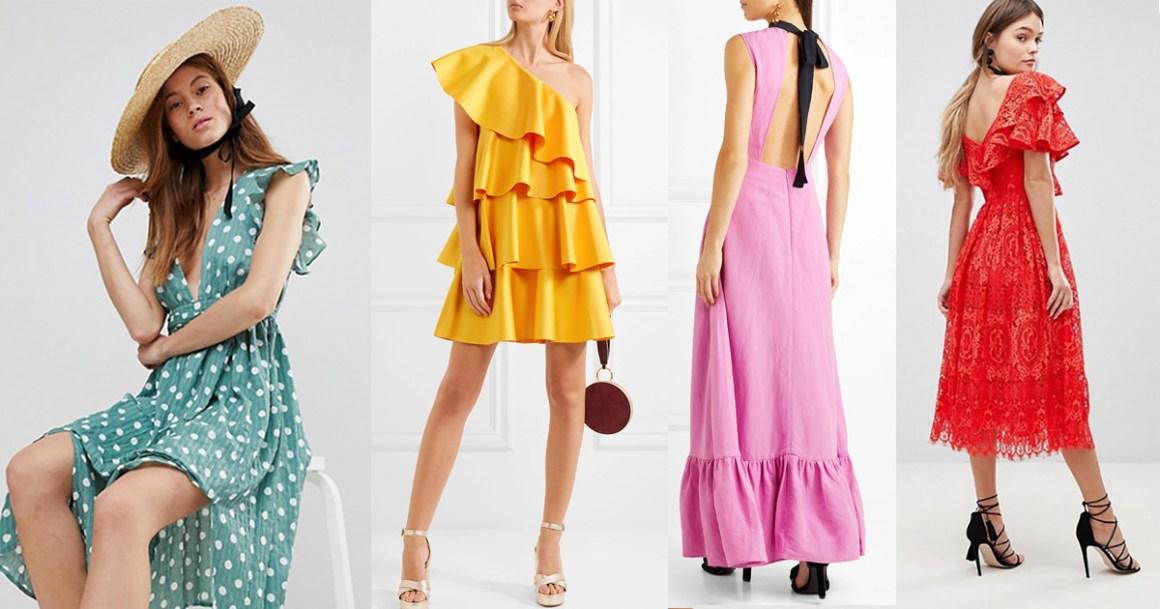 kolor jednobojne proljetne haljine