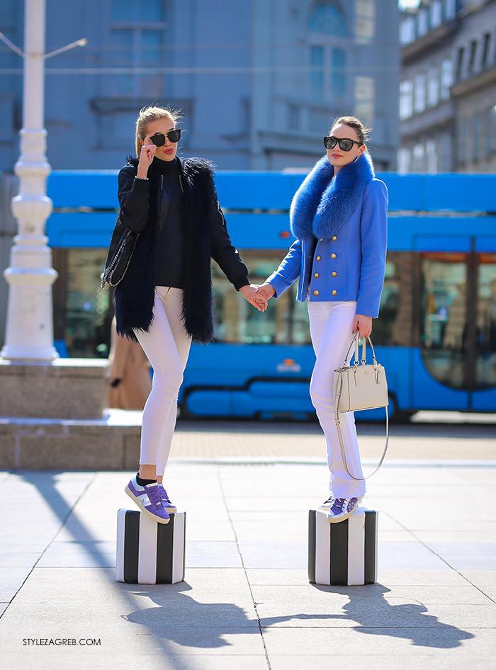 pastelne tenisice Guliver cijena, Tihana Čeljuska, studentica modnog dizajna i Karmen Stepanić, studentica ekonomije i menadžmenta na ZŠEM