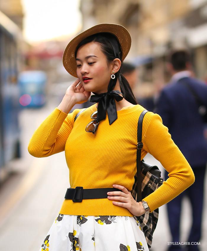stjuardesa stil špica proljetna moda žuta majica cipele marks and spencer