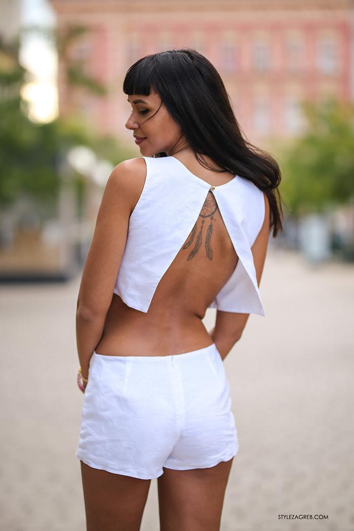 Calvin Klein Jeans sniženja bijeli kombinezon Tija Malik
