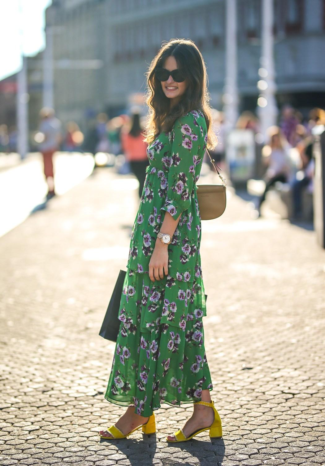 Zelena haljina i stylish cure se vole!