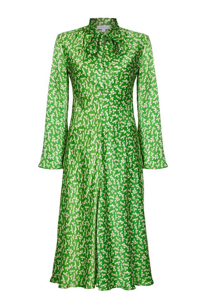 Ghost zelena haljina hit street style