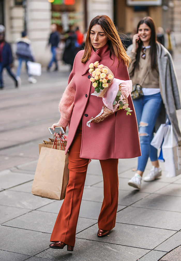 zagrebačka špica Petra Sučić Roje pink pelerina Paule & Joe najbolji kaputi Zara Mango Asos Gucci street style zagreb prosinac ženska moda zima 2019