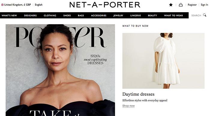 Korona virus zaustavlja i online kupnju zatvoren Net-a-Porter
