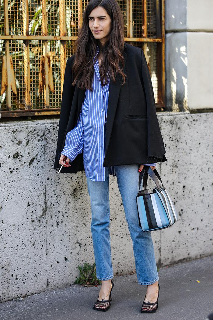 ženska moda potal trend crni veliki sako street style zagreb