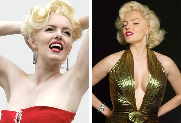 Marilyn Monroe & suzy kennedy 50s hair