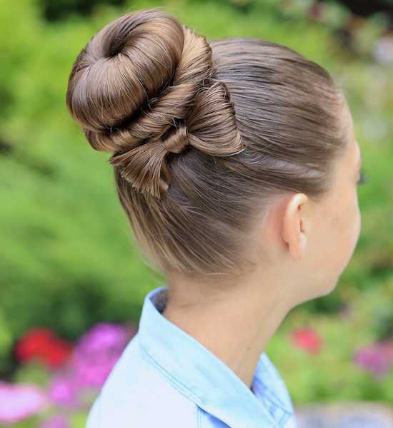 Bun with Braids and Bows 2016