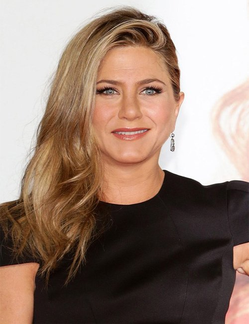 Jennifer Aniston Side Swept hair