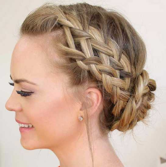 Waterfall French Braid Updo 2016