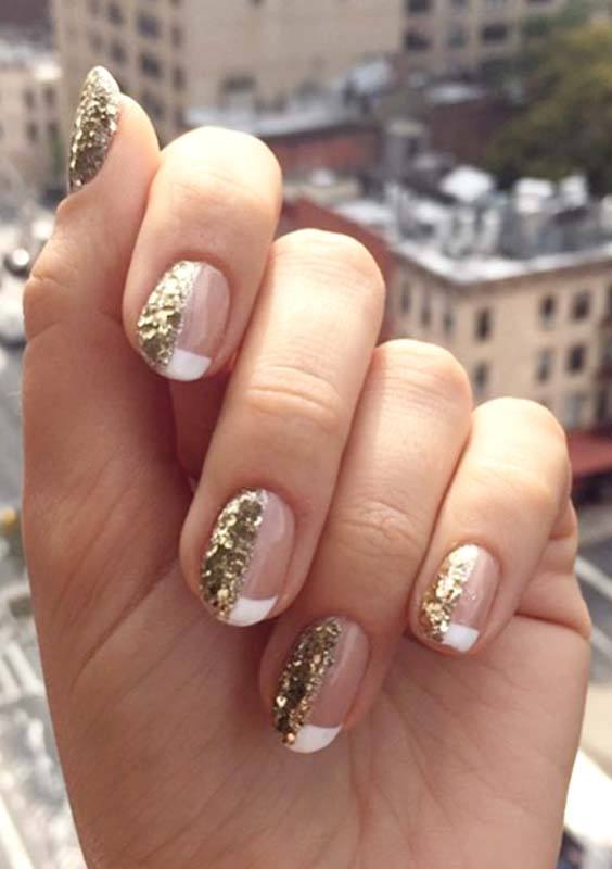 Best French Gold Nail Art Designs