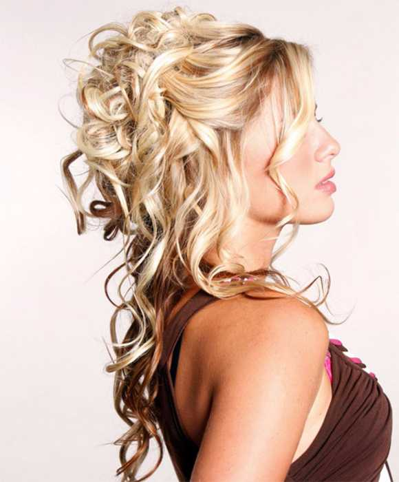 Half Up Half Down Curly Hairstyle for 2016