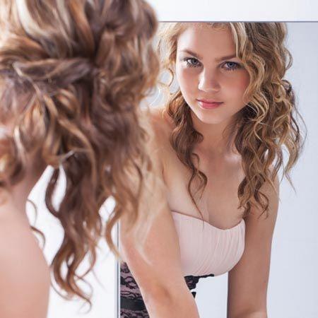 Half Up- Half down curly hair