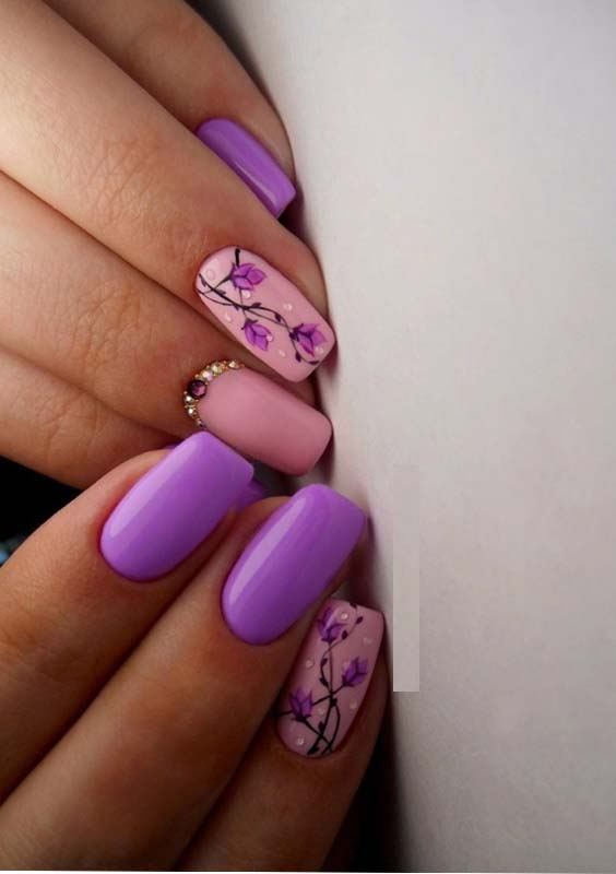 Pink Purple Nail Designs Trends