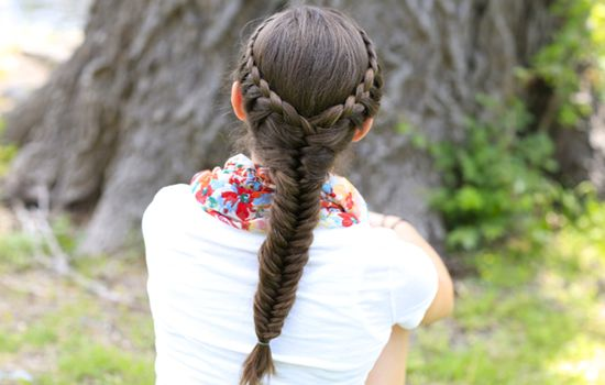 Sassy Fishtail Braid for school girls