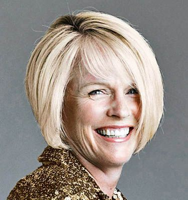 Short graduated bobs for women over 50