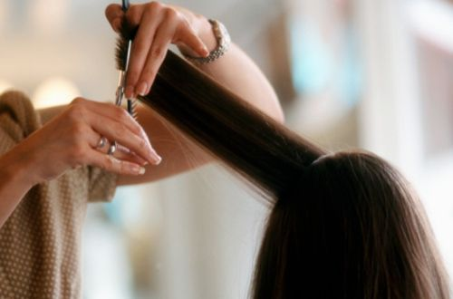 Trim your hair for long hair