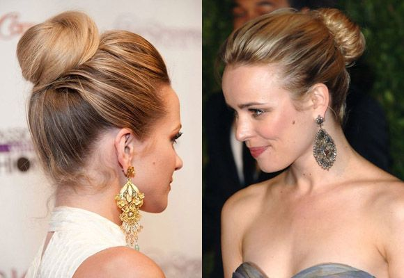 vertical twist high bun updos