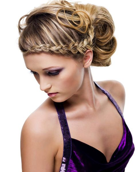 Braided updo hairstyles for long hair