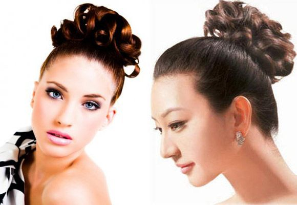 High Bun black curly hairstyles