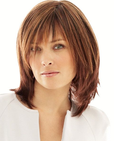 Gorgeous Medium Hairstyles with Bangs To Try | Stylezco
