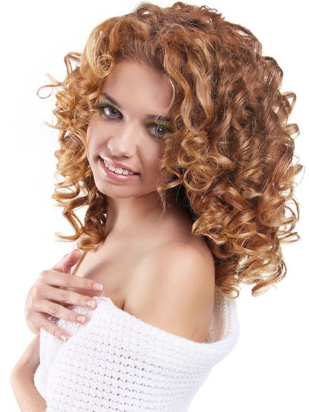 Natural curls and layers for women