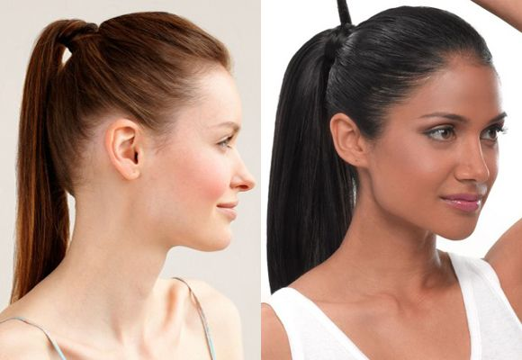 Swept Back Sleek High Ponytail Hairstyles
