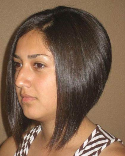 medium A-line bob hairstyles