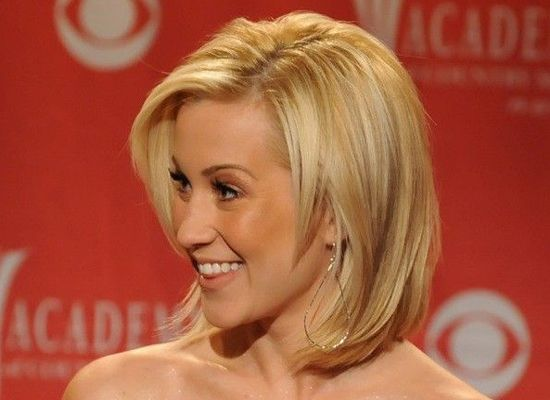 medium One length bob hairstyles