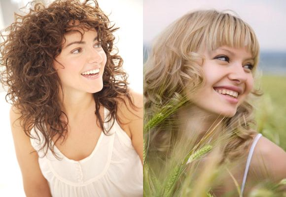 Straight bangs and Ringlets shoulder length hairstyles