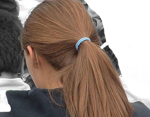 ponytail for thick hairstyles