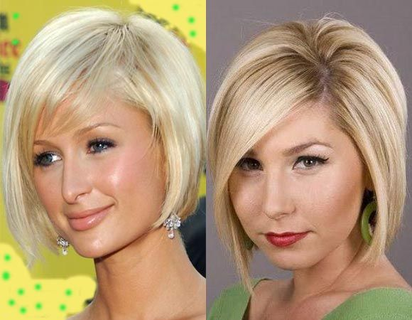 Graduated Bob Hairstyles with Chin Length Bangs