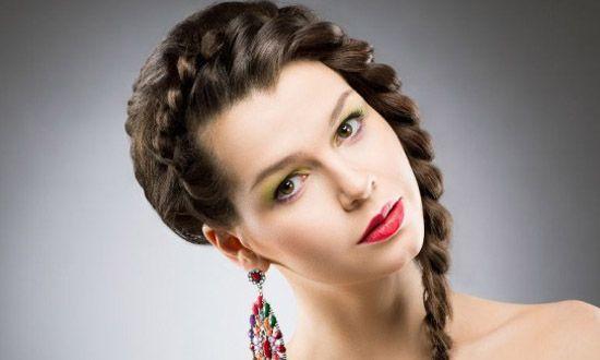 Quinceanera Messy fishtail braided hair