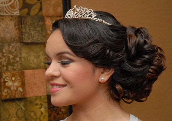 Quinceanera hairstyles with bump