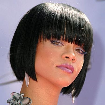 Soft Rounded Black Bob hairstyles