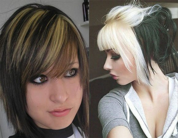 Edgy Emo Hairstyle for Teen Girls