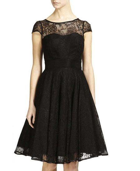 Short black tassel dress